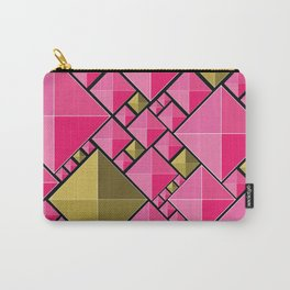 Pink and Gold Carry-All Pouch