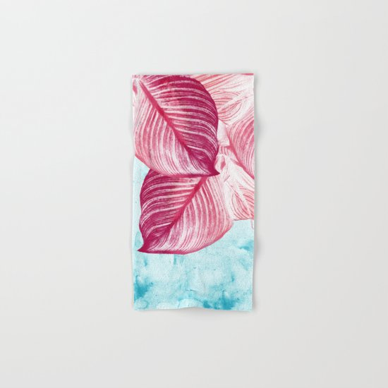 Tropical Canna Leaves  Hand & Bath Towel