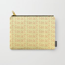 sunset-sky,light,twilight,dusk,gloaming,crepusculo Carry-All Pouch