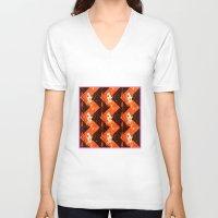 herringbone V-neck T-shirts featuring Herringbone#3 by ArtLoveHope