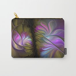 Come Together, Abstract Fractal Art Carry-All Pouch