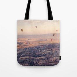 Sunrise Hot Air Balloon Flight Tote Bag