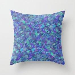 Iridescent Fragments Throw Pillow