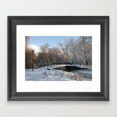 Spring Lane in Snow Framed Art Print