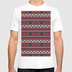 Navajo blanket pattern- red Mens Fitted Tee MEDIUM White