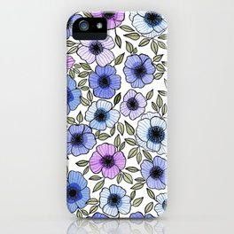 Poppy Purples iPhone Case