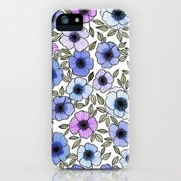 Poppy Purples iPhone Case