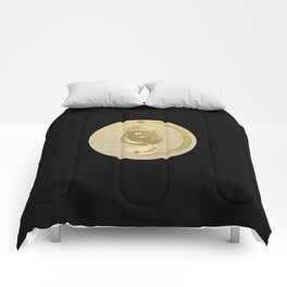 Black Gold Moon and Stars #1 #decor #art #society6 Comforters