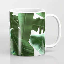 tropical banana leaves pattern 2 Coffee Mug