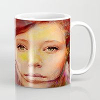irish Mugs featuring Irish fairy by Joe Ganech