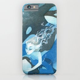 Orca Guardian Mermaid iPhone Case
