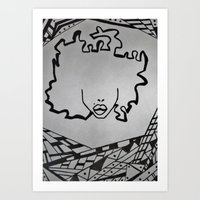 Afro Chick Art Print