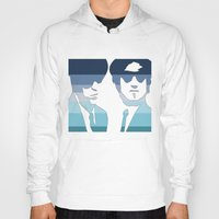 blues brothers Hoodies featuring Blues Brothers (Tribute) by Kerosene Bill