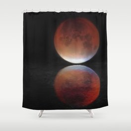 Super blood moon Shower Curtain