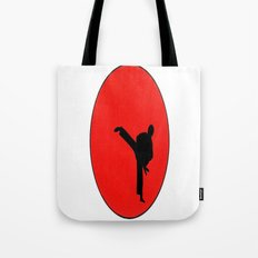 Art Of Karate Print Tote Bag