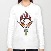 gurren lagann Long Sleeve T-shirts featuring All for one [Gurren Lagann] by Juliet García