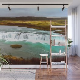 Iceland art Two Wall Mural