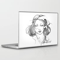 narwhal Laptop & iPad Skins featuring Narwhal by Mortimer Sparrow