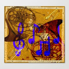 Notes of Sound Canvas Print