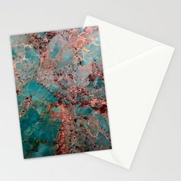 Marble Turquoise Blue Stationery Cards