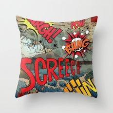 Hiroshige Comic Pop Art Throw Pillow