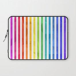 RAINBOW + WHITE Laptop Sleeve