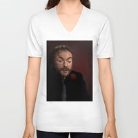 crowley V-neck T-shirts featuring Crowley by San Fernandez