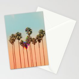 Glitch beach Stationery Cards