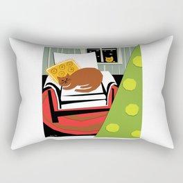 Christmas cat Rectangular Pillow
