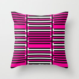 Licorice Bytes, No.6 in Black and Pink Throw Pillow