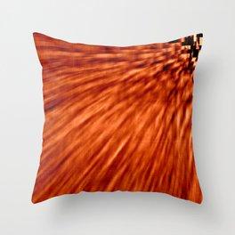 Burnt Orange Pixel Wind Throw Pillow