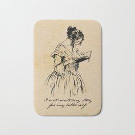Write my Story - Elizabeth Barrett Browning Bath Mat