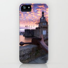 Stronghold At River Neighbouring Haven At Marvellous Evening Red High Resolution iPhone Case