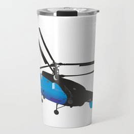 Black and Blue Helicopter Travel Mug