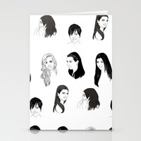 kardashian Stationery Cards featuring Keeping Up (Black and White) by Shany Atzmon