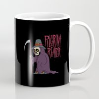 scott pilgrim Mugs featuring PilGrim Reaper by Chris Piascik