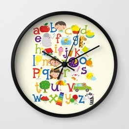 Wedgienet's Alphabet Wall Clock