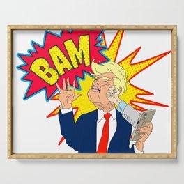 Stop Tweeting Trump Serving Tray