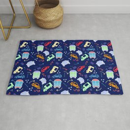 Cars and Arrows Rug