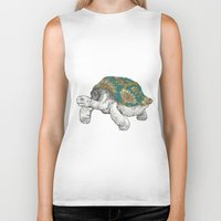 tortoise Biker Tanks featuring Tortoise by Ouizi - Los Angeles