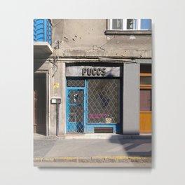 Geometric Facade / Shopfront Poster Metal Print