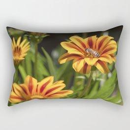 Beautiful Flower with Bee Rectangular Pillow