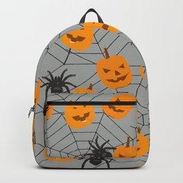 Hallween pumpkins spider pattern Backpack