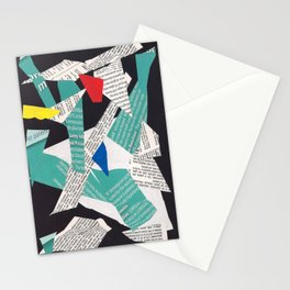 Collage abstract multicolor 3334 Stationery Cards