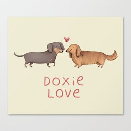 Doxie Love Canvas Print