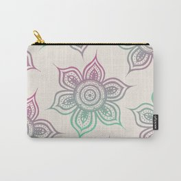 Lotus Mandala (Tropical Sunset) Carry-All Pouch