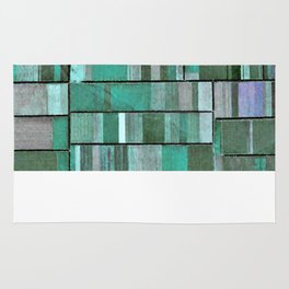 Life in Boxes (Blue and Purple) Rug