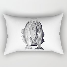 3 Amigos - Red Drum, Sea Trout, Striped Bass Rectangular Pillow