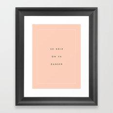 Danser II Framed Art Print