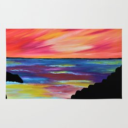 GIANT'S CAUSEWAY SILHOUETTE - Abstract Sky Oil Painting Rug